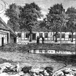 Tegning af Randlev præstegård